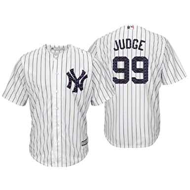 buy popular c8b82 81344 Majestic Athletic Men's New York Yankees Aaron Judge 2018 Stars & Stripes  Player Jersey – White XL