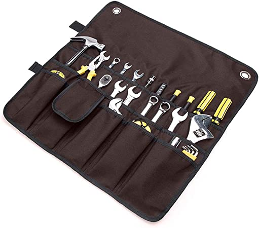 Wrench Bag Tool Roll Storage Pocket Tools Pouch Case Organizer Holder US