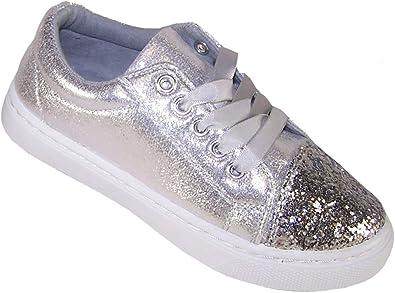 Girls Children Kids Silver Glitter