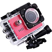 Baosity Outdoor Underwater Full HD 4K DV Action Camera with Wide Angle Lens Webcam Red