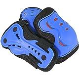 SFR Essentials Triple Pad Set AC760 (Blue/Red, Large (Age 9-12))