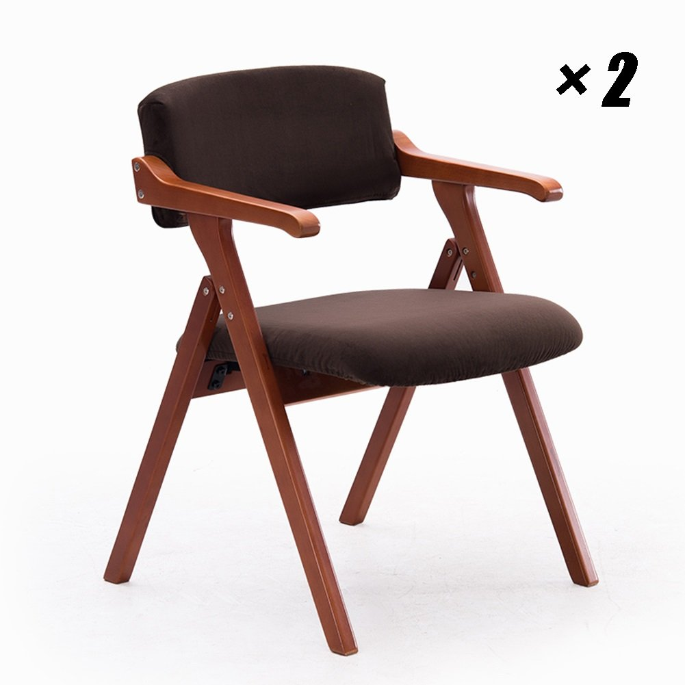 カフェラウンジチェア北欧ダイニングパッディングチェアシンプルなキッチンの背もたれシート家庭用、会議用、オフィス用55×57×78cm (色 : Red-brown, サイズ さいず : Set of 2) B07F83SB1C Set of 2|Red-brown Red-brown Set of 2