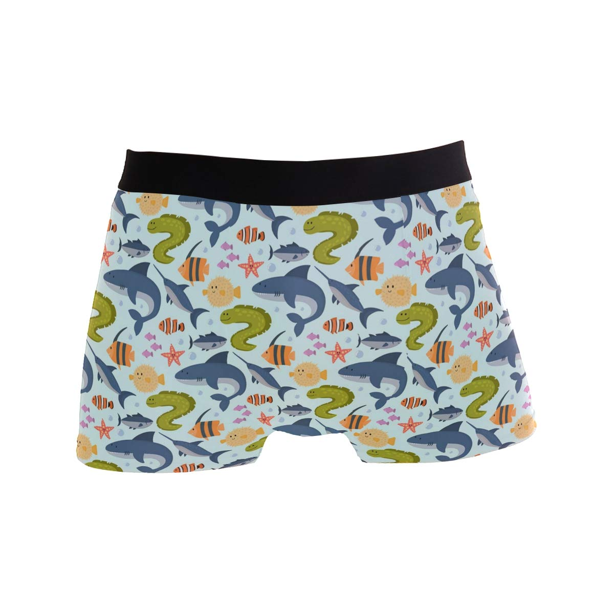 Mens Soft Breathable Whale Shark Art Underwear Boxer Briefs