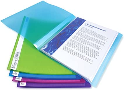 Rapesco Documentos Carpeta portafolios A4 con doble bolsillo 5 unidades transparente