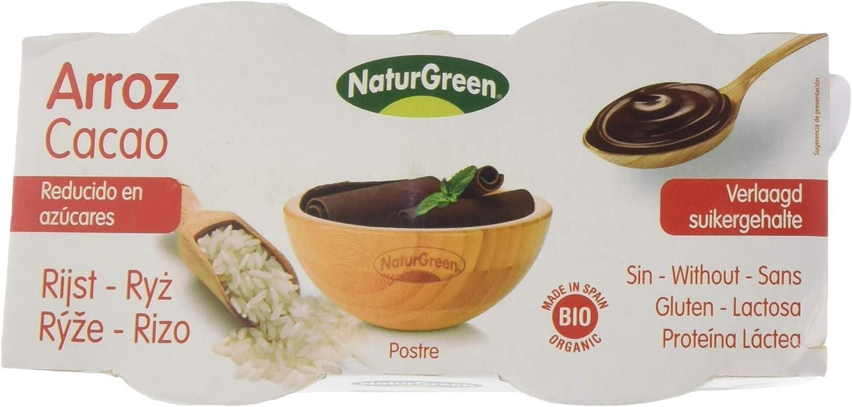 NaturGreen Postre tipo natillas Arroz Less Sugars Cacao Bio ...