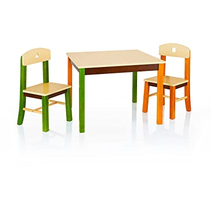 Amazon Com Guidecraft See And Store Table And Chair Set Kids