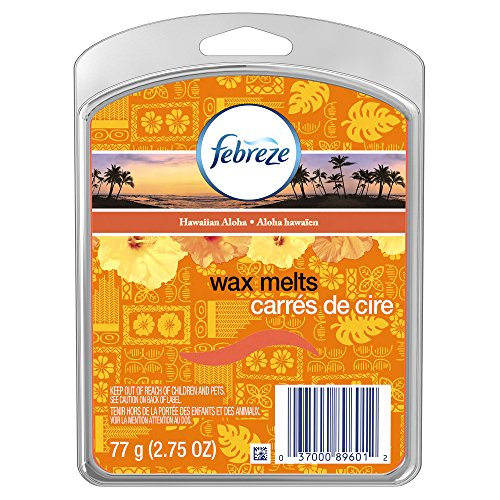 Febreze Wax Melts Air Freshener, Hawaiian Aloha (Pack of 8)