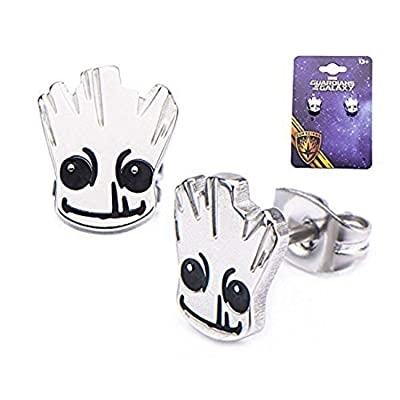 Officially Licensed Guardians of The Galaxy Stainless Steel Earring Set: Jewelry