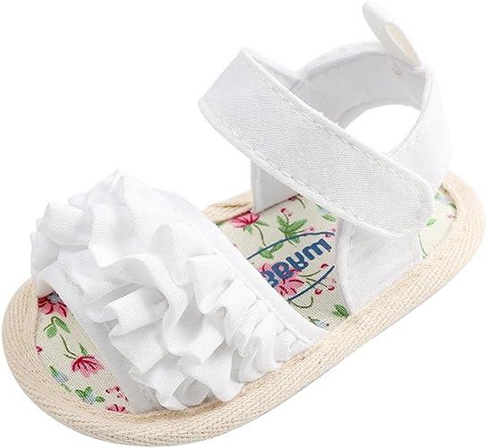 /Âge: 6 ~ 12 Mois, blanc IGEMY Nouveau-n/é Petites filles b/éb/é Chaussures Doux Unique Antid/érapant Baskets Bowknot Chaussures