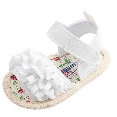 Chaussures de Bébé Sandales,🎀LuckyGirls Joli Bébé Fille Fleur Sandales  Anti-dérapant Doux 78918722b12b