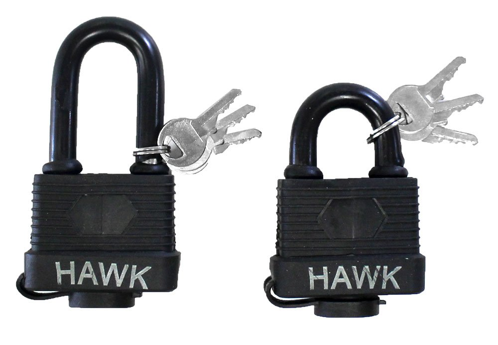 2 Piece Weather Proof Laminated Padlocks