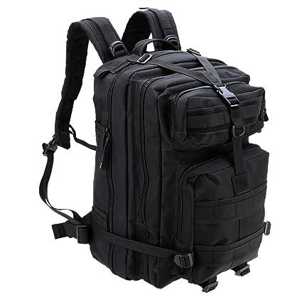 Docooler - Mochila militar táctica 45 litros, para acampada y senderismo, negro