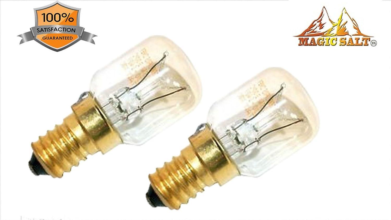 2 bombillas de 15 W. Sal natural Himallayan. purificador de aire E14 2 x 15 Watt Birne L/ámpara de sal natural Himallayan Salt Lamp