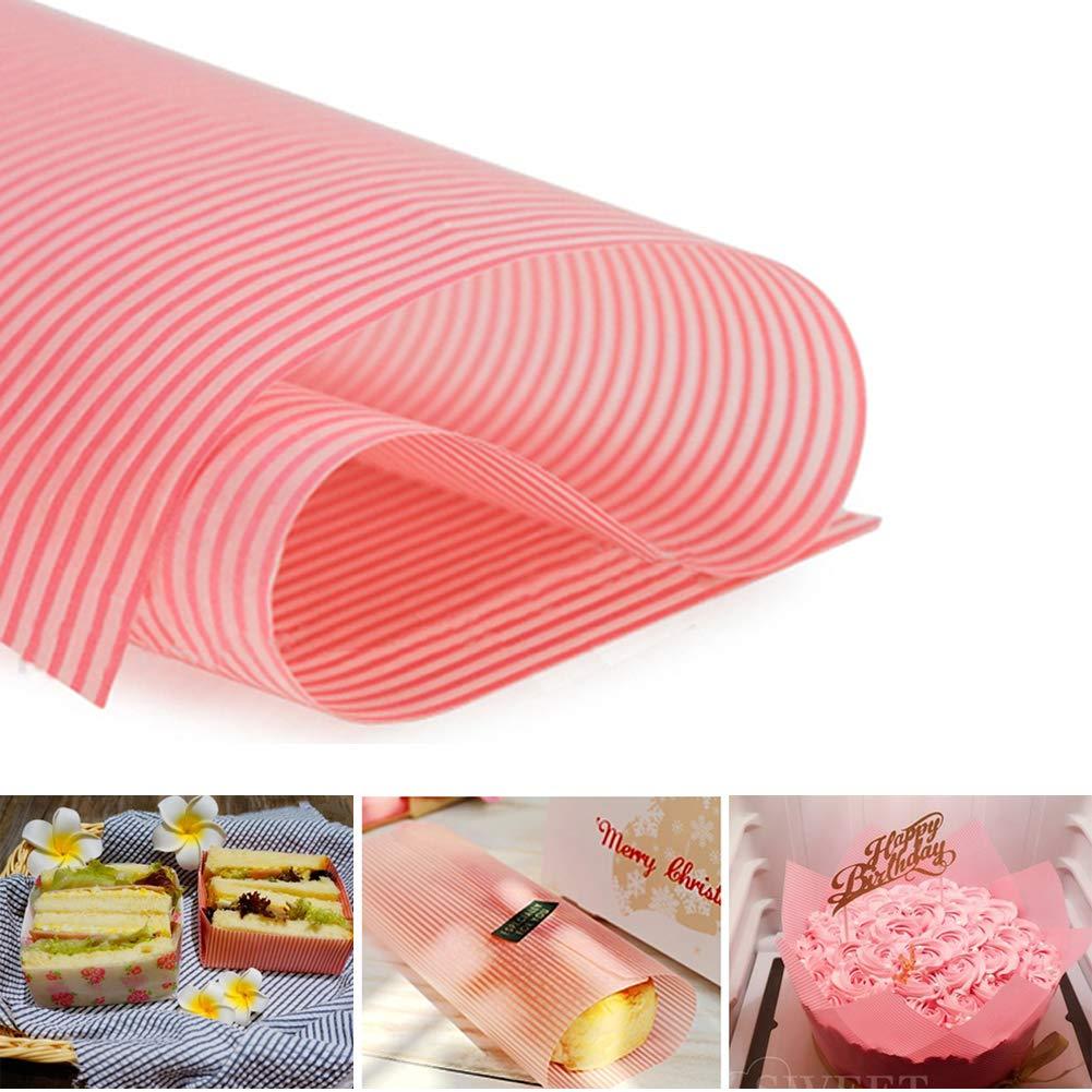 Wax Paper,Cookies Paper,Waterproof Hamburger Paper,Food Tissue … (White - Letter)