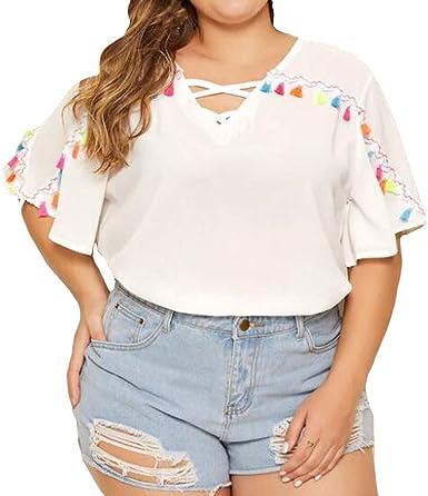 Berimaterry Camisetas Mujer Tallas Grandes, Camiseta de Mujer ...