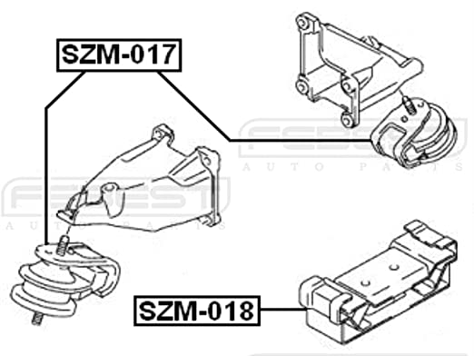 Amazon Com Febest Szm 017 Front Engine Mount Automotive