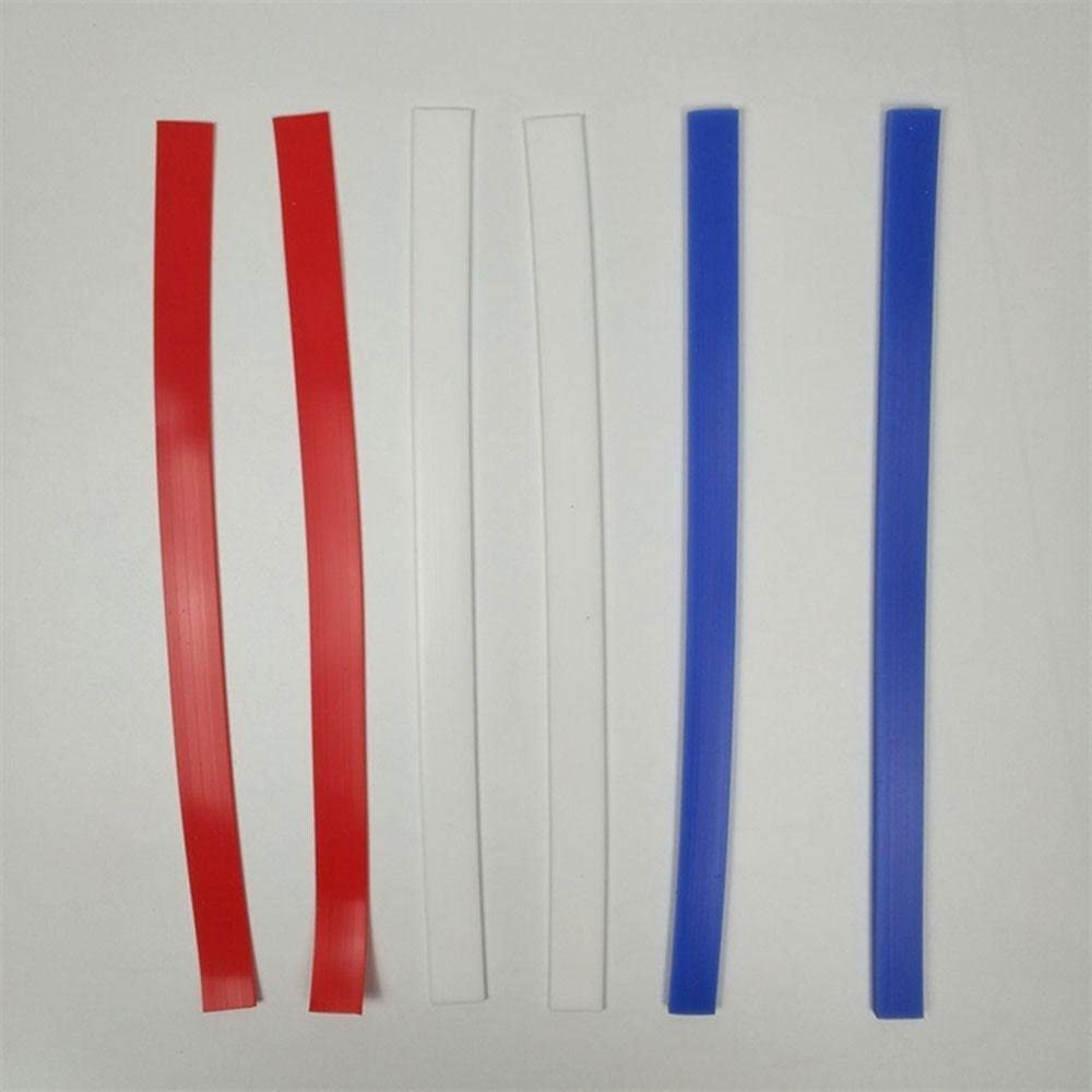 2//4//6mm Aolvo Dough Thickness Strips 3 Size 3 Pairs 1.25//1.5Ft Dough Measuring Strips Silicone Perfection Strips for Baking Cookies and Fondant
