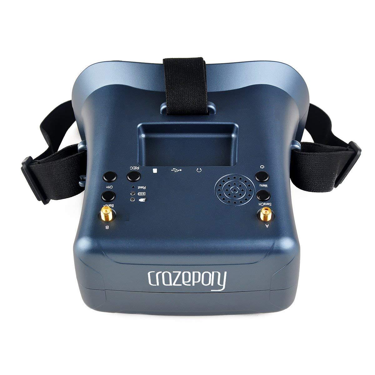 FPV Brille VR008 Pro 2 FPV Headset Brille mit DVR 4,3 Zoll 5,8G 40CH Diversity Batterie Doppelantenne Empfang und Tragetasche f/ür RC Quadcopter