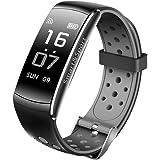 Btruely Herren_Reloj Pulsera Actividad Inteligente Impermeable, Fitness Tracker Actividad Reloj Monitor de Frecuencia Cardiáco Pulsera Deportivo con Pulsómetro Impermeable Reloj (Gris)