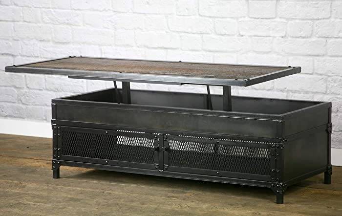Reclaimed Wood Lift Top Coffee Table 6