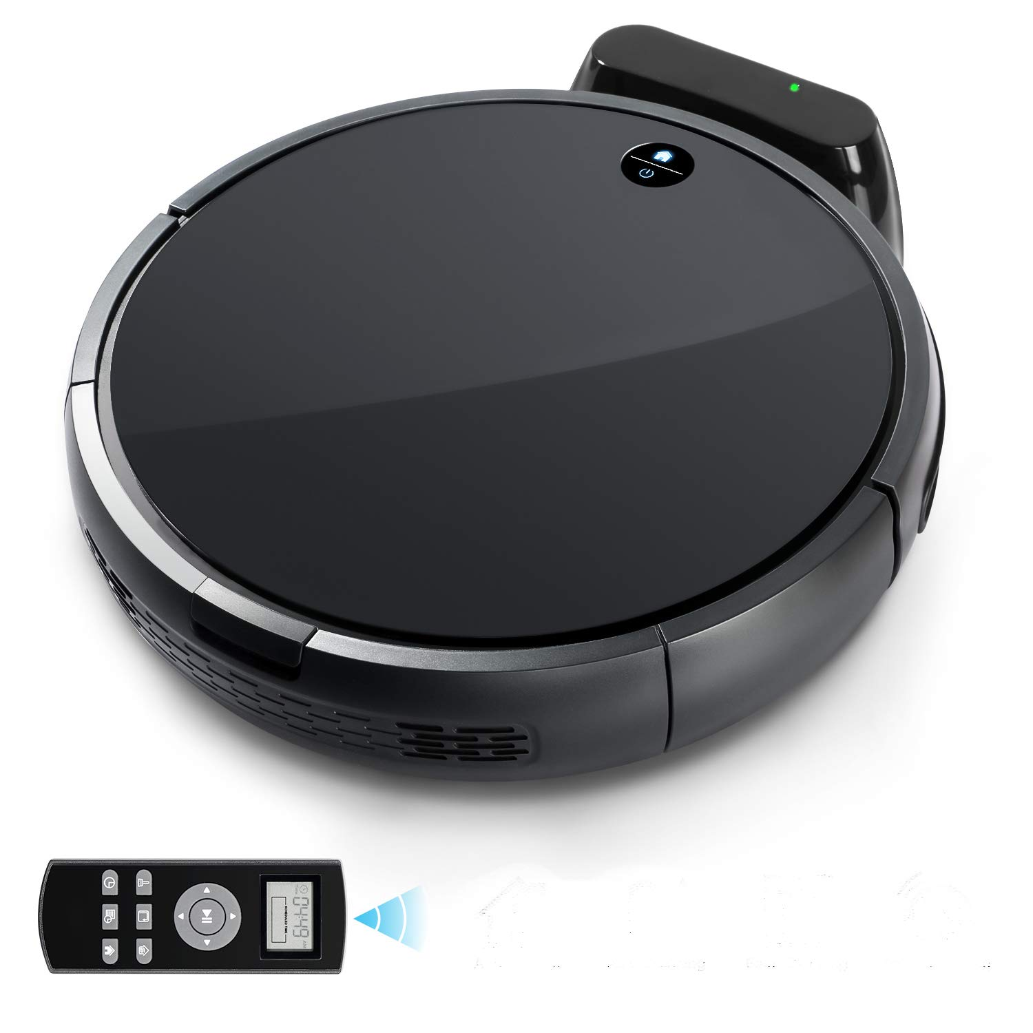 RV-03 Robot Vacuum with Strong Power Suction Tonor, Self-Charging Robotic Vacuum Cleaner Hepa Filter for Clean Carpet Hardwood Floor Pet Fur and Allergens