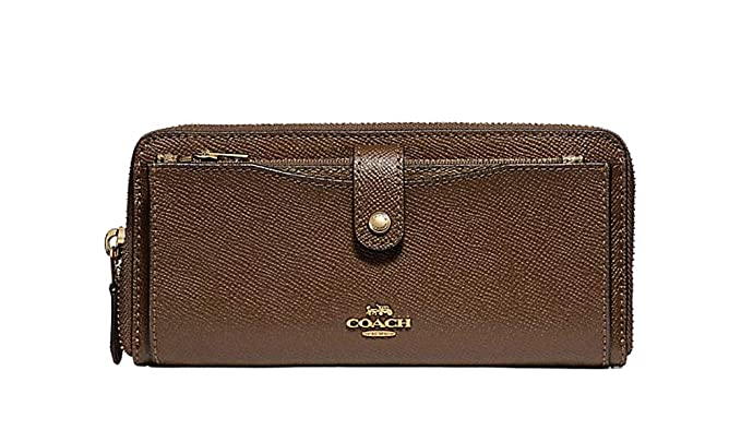 Image Unavailable. Image not available for. Color  Coach Crossgrain  Multifunction Leather Wallet in Saddle -  F22997 6dfb0c5153ccb