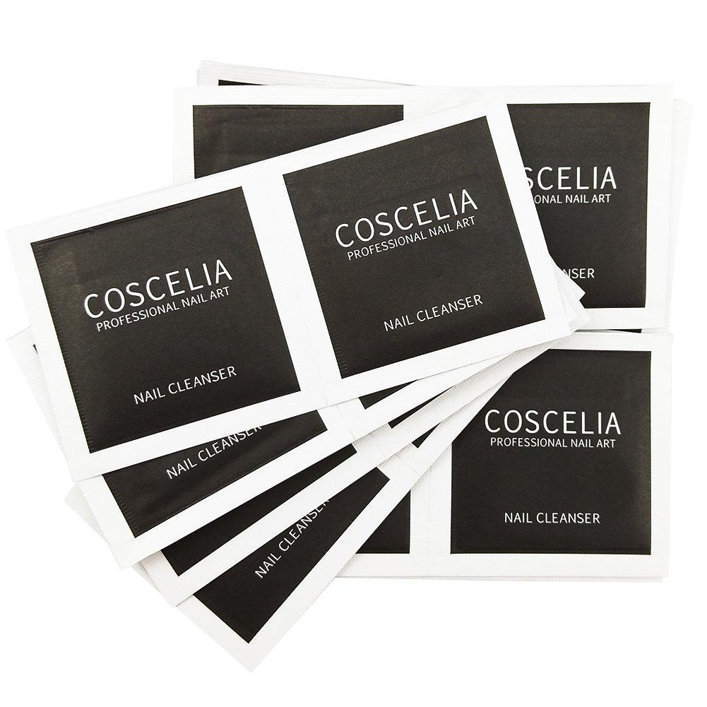 Coscelia 100pcs Nail Art Acrylic UV Gel Remover Cleanser Plus