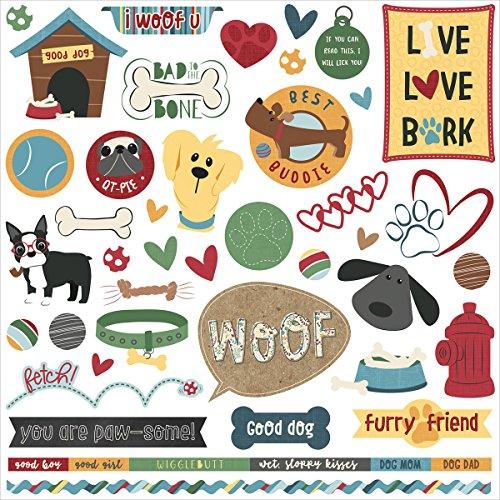 Cooper & Friends Stickers (12 Scrapbooking Stickers)