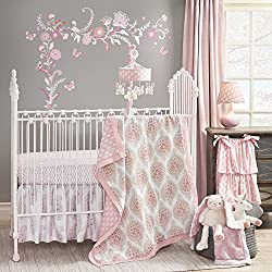 Lambs & Ivy Happi by Dena Charlotte Girl's 4 Piece Bedding Set