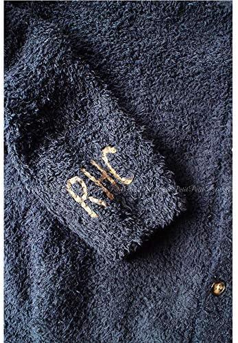 Barefoot Dreams(ベアフットドリームス)RHC別注 ロゴ入り ノーカラーカーディガン Solid Pocket Cardigan