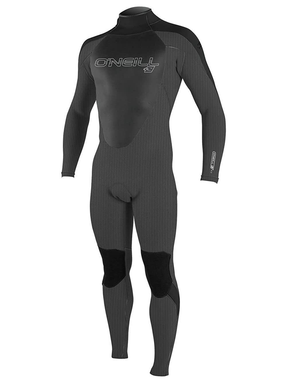 Graphite Graphite Black Large O'Neill Men's Epic 4 3mm Back Zip Full Wetsuit