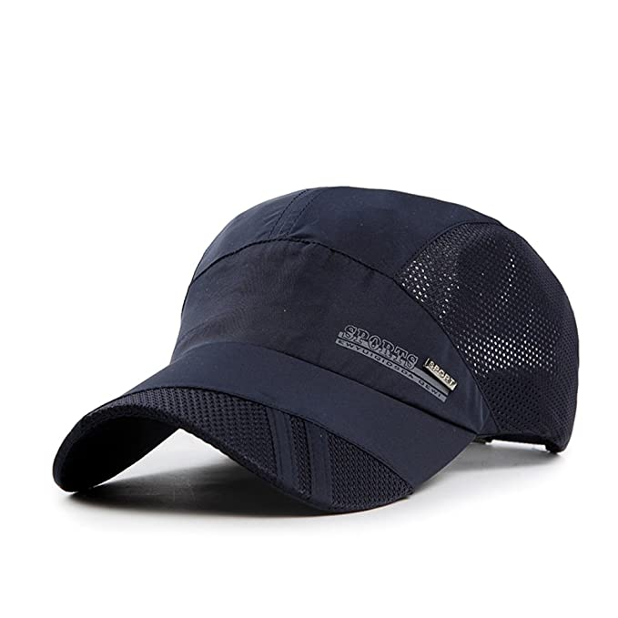 Sombrero/Gorras de verano de los hombres/Absorción respirables deportes al aire libre tapa/Visera/Sombrero para el sol/Gorra de béisbol moda-G ajustable: ...