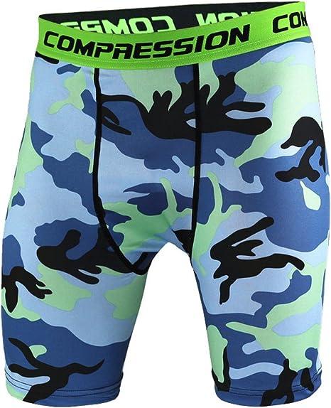 Men Boy Athletic Sports Thermal Under Shorts Compression Base Layer Underwear