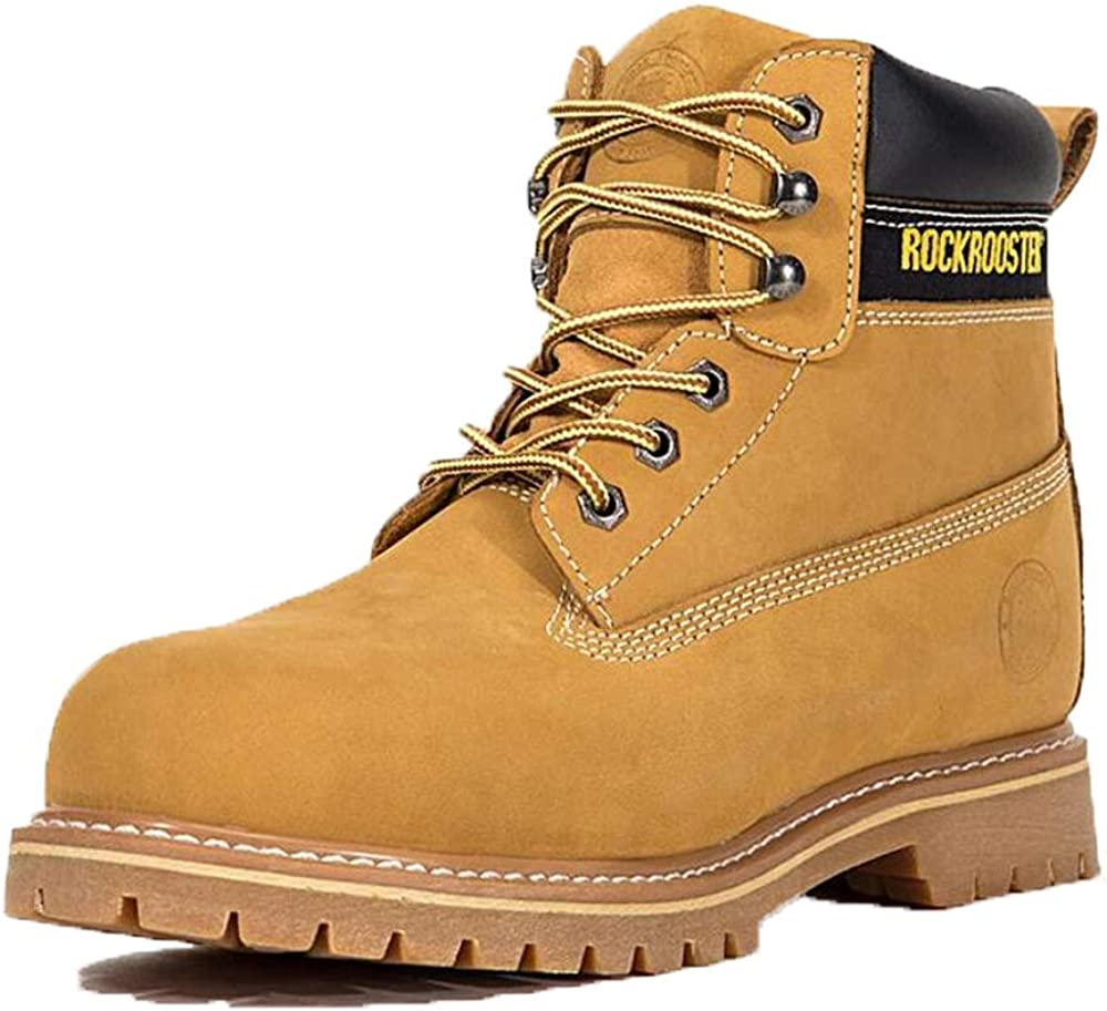 ROCKROOSTER Men's Work Boots Lace up