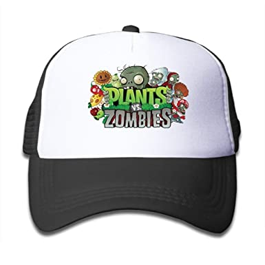 Kids Adjustable Plants Vs Zombie Baseball Cap One Size Black ...
