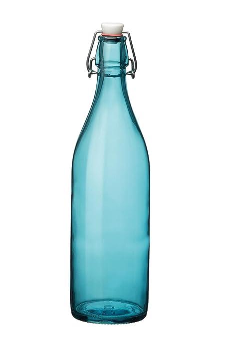 Botella de cristal, jarra, cristal, aqua, 1 L, diámetro de 8