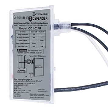 Amazon.com: Intermatic CD1-024R Compressor Defender Protects Central Air Conditioner / Heat Pump Compressors and Circuit Boards: Home Improvement