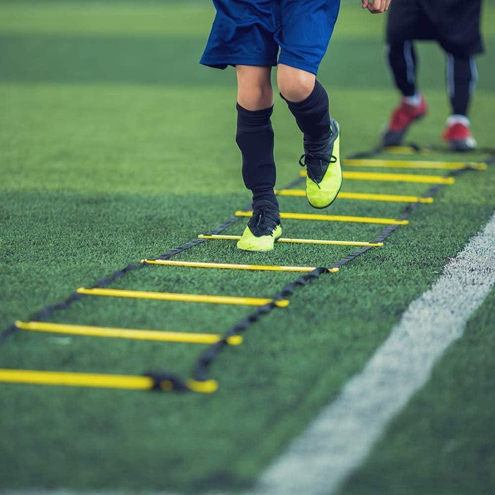 WYYHAA Escalera Velocidad De Doble Uso Multifuncional Agilidad Obst/áculo Equipo De Entrenamiento para El F/útbol F/útbol Baloncesto Boxeo Taladros