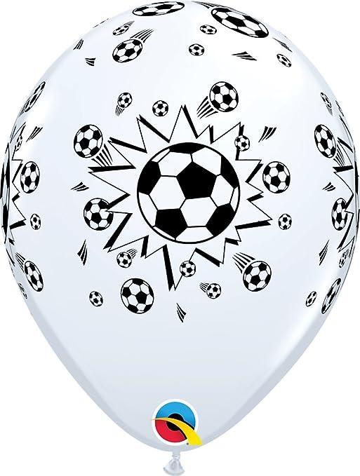 Qualatex 11755 Balones De Fútbol Látex Globos, 11