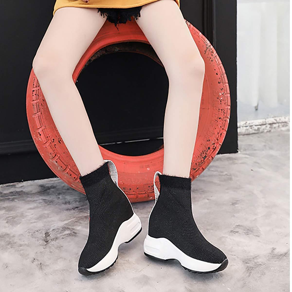 Fad-J Feste Winter lässige Damenschuhe, komfortable Trendkeile unten Feste Fad-J Farb-Stiefelies,rot,36 814e99