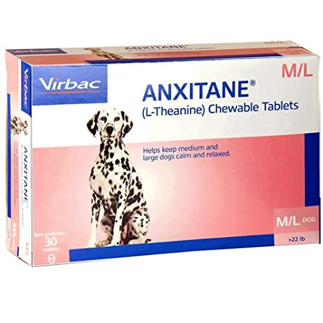 Virbac Anxitane Tablets, Medium/Large Dog, 100 MG, 30 Count 22.1lbs