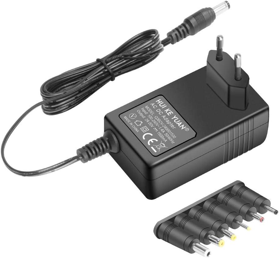 HKY 24V Cargador Adaptador Universal para Aspirador Robot Conga Cecotec 1290 Gryo Model 05145,Vileda M-448A SB35,Discos Duros Externos,Luces LED,Pantallas LCD,Enrutadores WiFi,televisore LCD