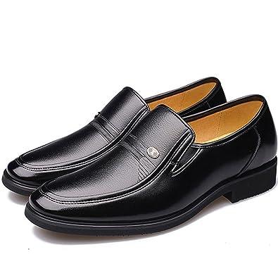 LEDLFIE Herren Schuhe Business Formelle Herren Lederschuhe Single Schuhe