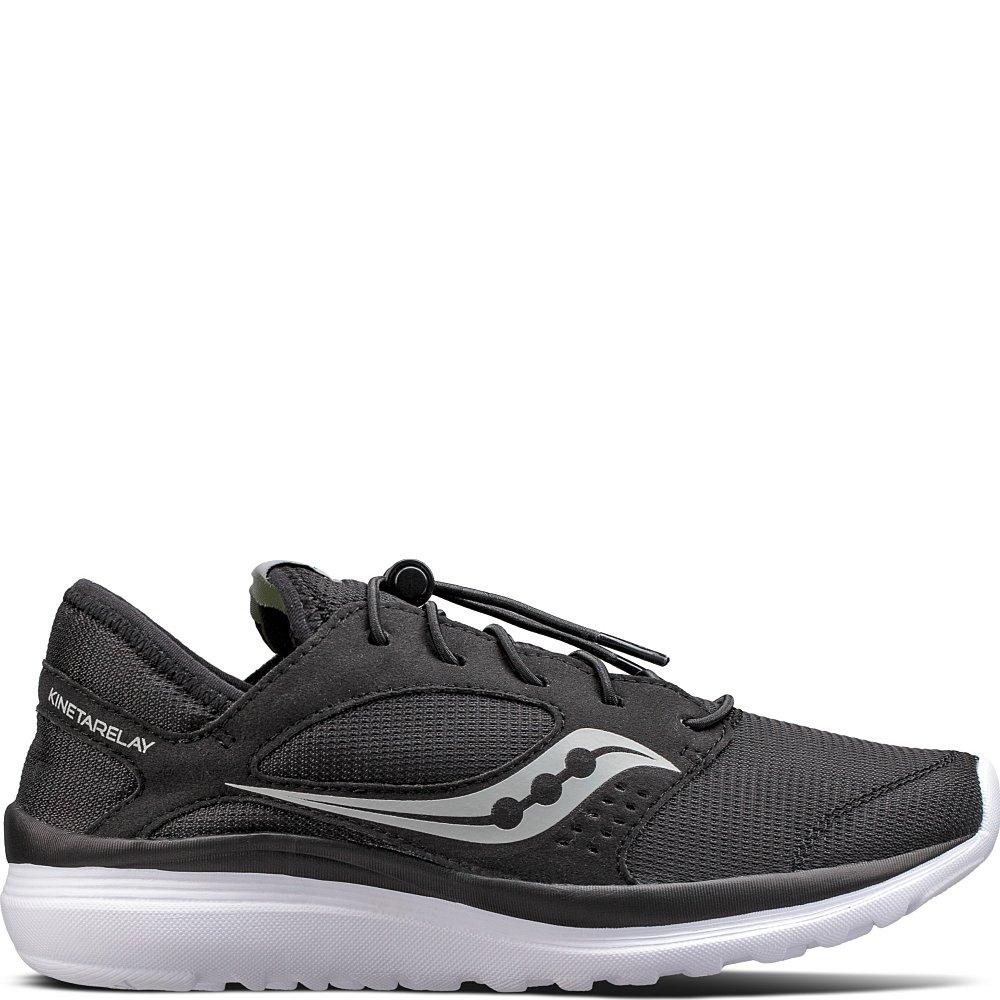 Saucony Women's Kineta Relay Running Shoe, Black, 5 Medium US