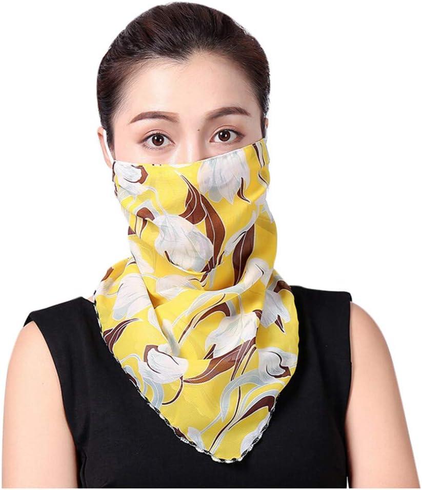BaZhaHei Mode Frauen Sun Chiffon Schutzschal Staubdichte Nackenschal Gesicht Schal Sommer Sunscreen Gesichtsschal UV-Schutz Hals Gamasche Schal Sonnenschutz