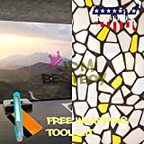 Free Tool Kit EZAUTOWRAP Yellow Brick Frosted Glass Peel And Stick Window Film Home Bedroom Bathroom Privacy Waterproof Sticker Decal - 36''X480'' (3FT X 40FT)