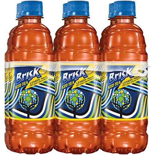 Brisk Iced Tea, Lemon, 16.9 oz Bottle (6-Pack)