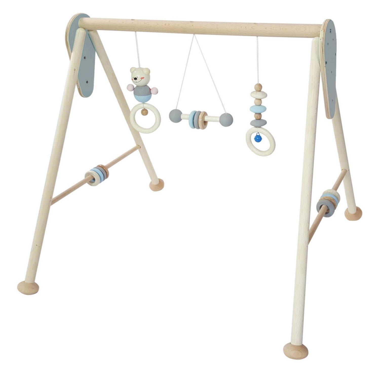 Hess Holzspielzeug 13381 Babyspielgerät aus Holz, blau