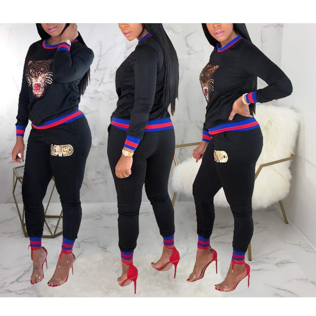 93fa53701c19 Azastar Womens 2 Piece Outfits Reflective Long Sleeve Jacket Pants  Tracksuit Set Sports Apparel