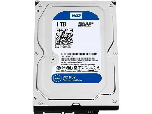 WD Blue 1TB SATA 6 Gb/s 7200 RPM 64MB Cache 3.5 Inch Desktop Hard Drive